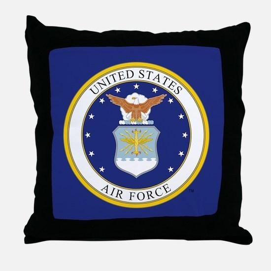USAF Emblem Throw Pillow