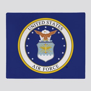 USAF Emblem Throw Blanket