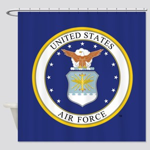 USAF Emblem Shower Curtain