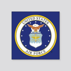 "USAF Emblem Square Sticker 3"" x 3"""