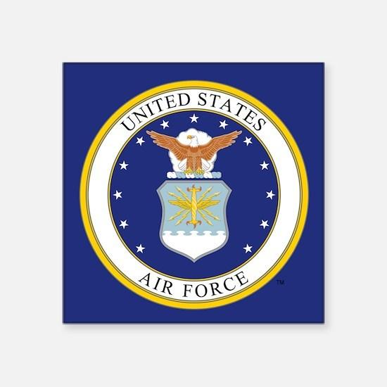 "USAF Emblem Square Sticker 3"" x 3"""