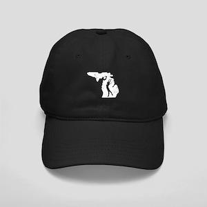Michigan Gymnastics Shirts Gy Black Cap with Patch