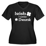 Irish I were Drunk Women's Plus Size V-Neck Dark T