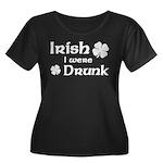 Irish I were Drunk Women's Plus Size Scoop Neck Da