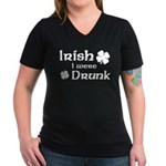 Irish I were Drunk Women's V-Neck Dark T-Shirt