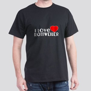 I Love Rottweiler Dark T-Shirt