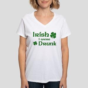 Irish I were Drunk Women's V-Neck T-Shirt