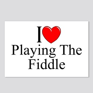 """I Love (Heart) Playing The Fiddle"" Postcards (Pac"