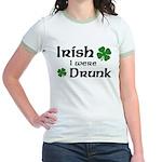 Irish I were Drunk Jr. Ringer T-Shirt