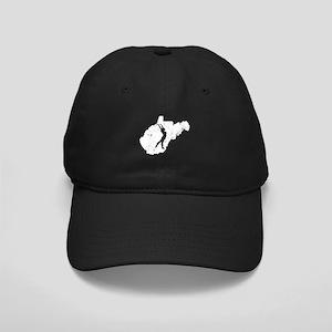 West Virginia Gymnastics Gift Black Cap with Patch