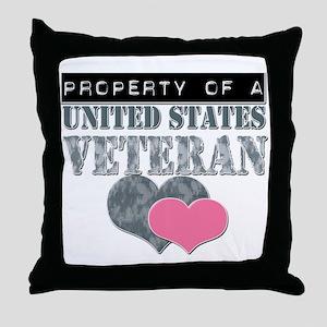 Property of a US Veteran Throw Pillow
