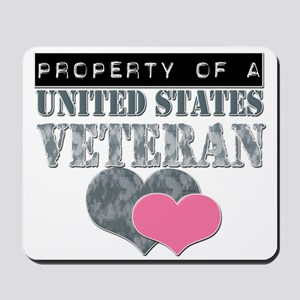 Property of a US Veteran Mousepad