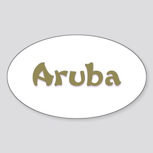 Aruba Oval Sticker