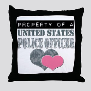Property of a US Police Offic Throw Pillow