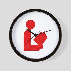 Library Love Logo Wall Clock