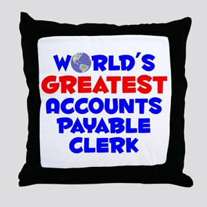 World's Greatest Accou.. (A) Throw Pillow