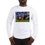 Starry Night Doxie Pair Long Sleeve T-Shirt