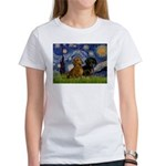 Starry Night Doxie Pair Women's T-Shirt