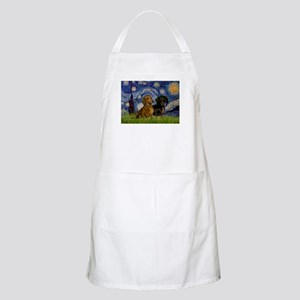 Starry Night Doxie Pair Apron