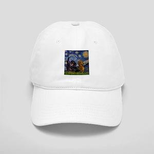 Starry Night Doxie Pair Cap