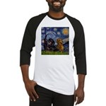 Starry Night Doxie Pair Baseball Jersey