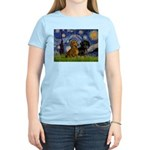 Starry Night Doxie Pair Women's Light T-Shirt