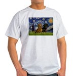 Starry Night Doxie Pair Light T-Shirt