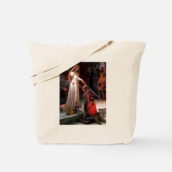 Princess & Doxie Pair Tote Bag