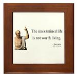 Socrates 1 Framed Tile