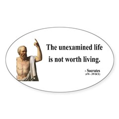 Socrates 1 Oval Decal