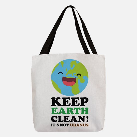 Keep Earth Clean Polyester Tote Bag