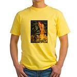 Fairies / Dachshund Yellow T-Shirt