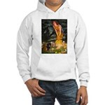 Fairies / Dachshund Hooded Sweatshirt