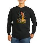 Fairies / Dachshund Long Sleeve Dark T-Shirt