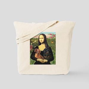 Mona Lisa's Dachshunds Tote Bag