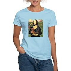 Mona Lisa's Dachshunds Women's Light T-Shirt