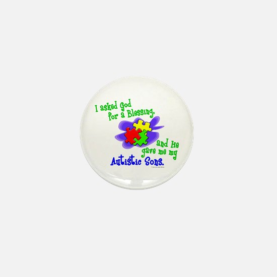 Blessing 2 (Autistic Sons) Mini Button