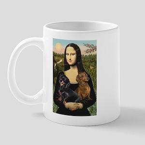 Mona Lisa's Dachshunds Mug