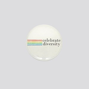 celebrate diversity Mini Button (10 pack)