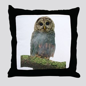 Owl Double Exposure Throw Pillow