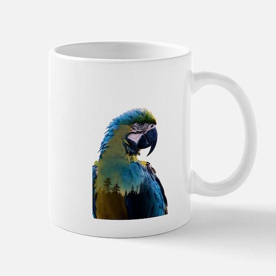 Parrot Double Exposure Mugs
