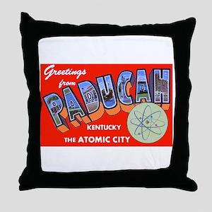 Paducah Kentucky Greetings Throw Pillow
