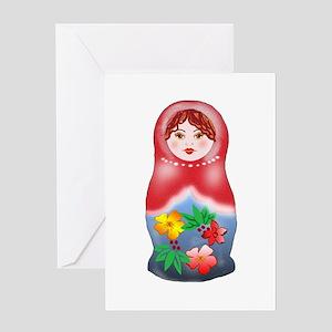 May Day Nesting Doll Greeting Card