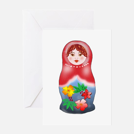May Day Nesting Doll Greeting Card