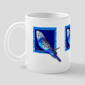 Budgie Land  Blue Parakeet Mug