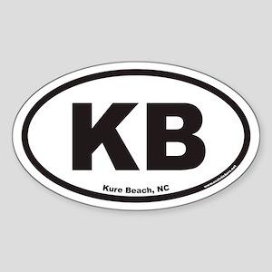 Kure Beach KB Euro Oval Sticker