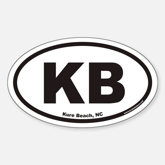 Kure Beach KB Euro Oval Decal