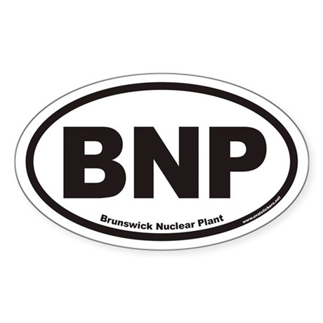 Brunswick Nuclear Plant BNP Euro Oval Sticker