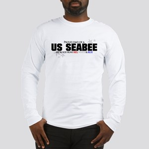 Red, white & blue Seabee Dad Long Sleeve T-Shirt