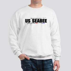 Red, white & blue Seabee Uncl Sweatshirt
